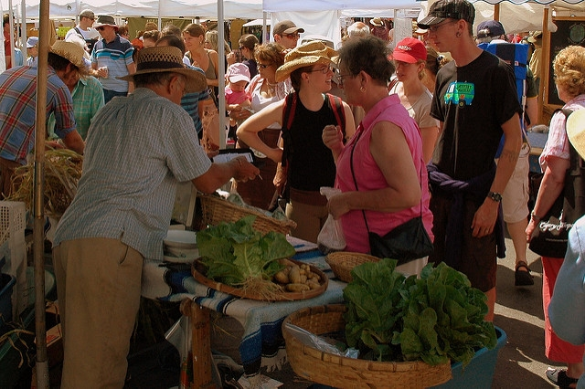 Salt Spring Island Saturday Market always draws a crowd.