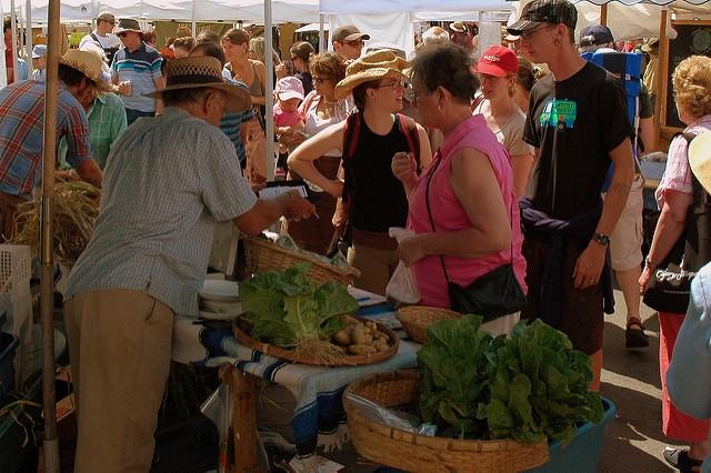 Salt Spring Island Saturday Market always draws a crowd.