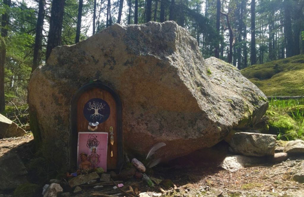 One of many fairy doors you'll discover on the way up Mount Erskine.